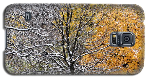 Galaxy S5 Case featuring the photograph Autumn Snow by Doris Potter