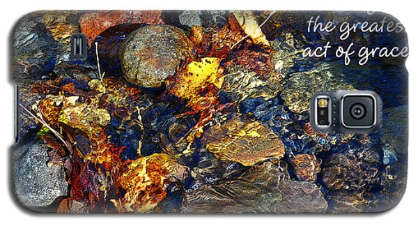 Galaxy S5 Case featuring the drawing Autumn Splash Grace by Diane E Berry