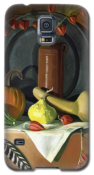 Galaxy S5 Case featuring the painting Autumn Still Life by Nancy Griswold