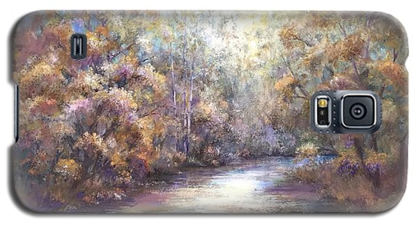 Galaxy S5 Case featuring the painting Autumn Stream by Bonnie Goedecke