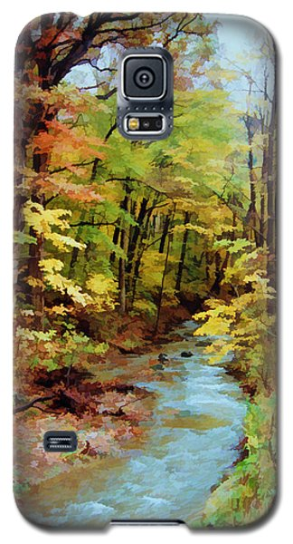 Galaxy S5 Case featuring the photograph Autumn Stream by Diane Alexander