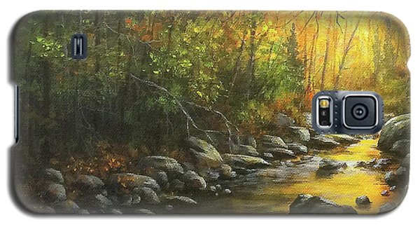 Galaxy S5 Case featuring the painting Autumn Stream by Kim Lockman