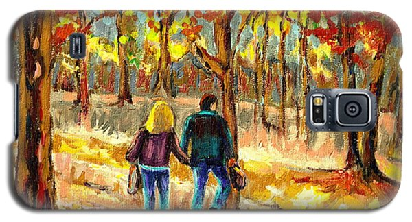 Autumn  Stroll On Mount Royal Galaxy S5 Case