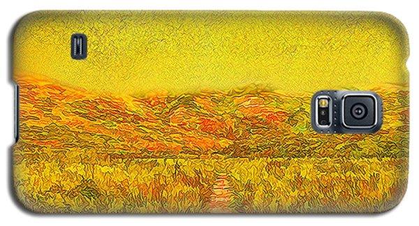 Galaxy S5 Case featuring the digital art Golden Sunlit Path - Marin California by Joel Bruce Wallach