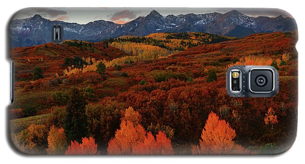 Galaxy S5 Case featuring the photograph Autumn Sunrise At Dallas Divide In Colorado by Jetson Nguyen