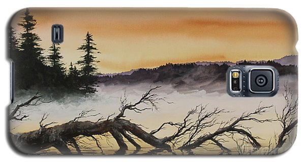 Galaxy S5 Case featuring the painting Autumn Sunset Mist by James Williamson