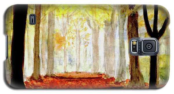 Galaxy S5 Case featuring the painting Autumn Trail by Yoshiko Mishina