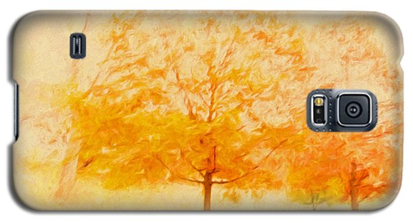 Autumn Trees Abstract Galaxy S5 Case