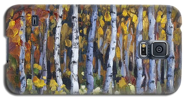 Galaxy S5 Case featuring the painting Autumn Trees by Jennifer Beaudet