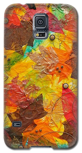 Autumn Leaves Underfoot Galaxy S5 Case