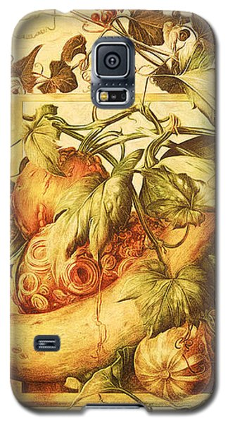 Galaxy S5 Case featuring the digital art Autumn Vegetable Harvest  by Tracie Kaska