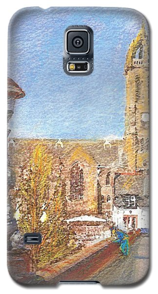 Galaxy S5 Case featuring the painting Autumn View Along The Bridge Peebles by Richard James Digance
