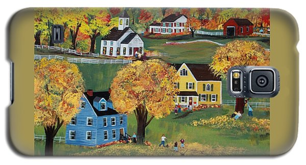Galaxy S5 Case featuring the painting Autumn by Virginia Coyle