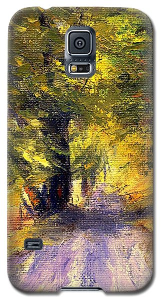 Galaxy S5 Case featuring the painting Autumn Walk by Gail Kirtz