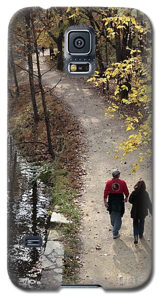 Autumn Walk On The C And O Canal Towpath With Oil Painting Effect Galaxy S5 Case