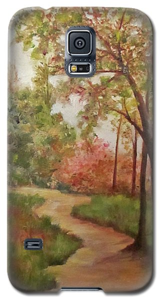 Galaxy S5 Case featuring the painting Autumn Walk by Roseann Gilmore