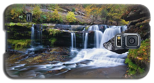 Galaxy S5 Case featuring the photograph Autumn Waterfall by Steve Stuller