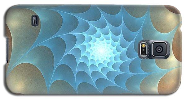 Galaxy S5 Case featuring the digital art Autumn Web by Anastasiya Malakhova
