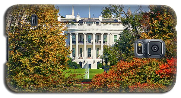 Galaxy S5 Case featuring the photograph Autumn White House by Mitch Cat