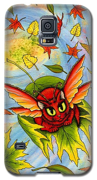 Autumn Winds Fairy Cat Galaxy S5 Case by Carrie Hawks