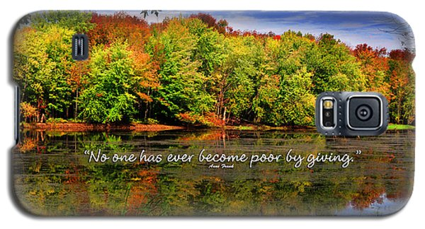 Galaxy S5 Case featuring the photograph Autumn Wonders Giving by Diane E Berry