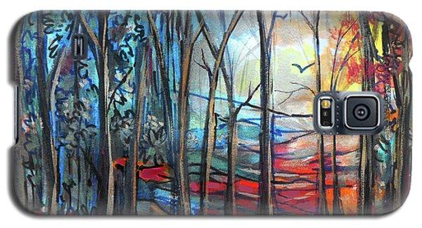 Autumn Woods Sunrise Galaxy S5 Case
