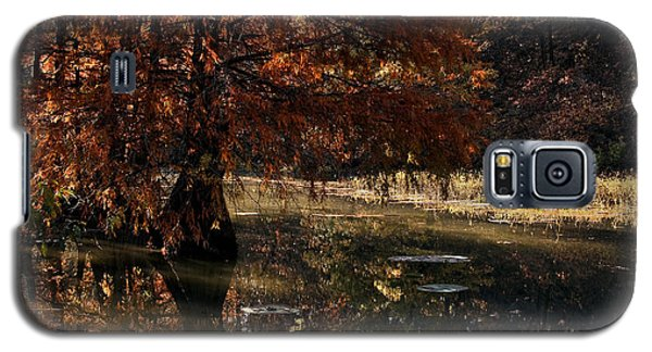 Galaxy S5 Case featuring the photograph Autumnal Solace At Lake Murray by Tamyra Ayles