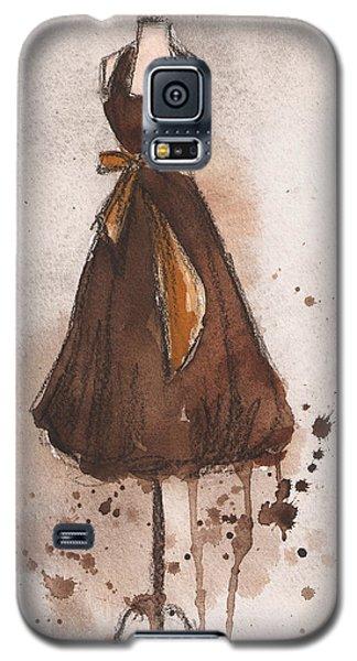 Autumn's Gold Vintage Dress Galaxy S5 Case by Lauren Maurer