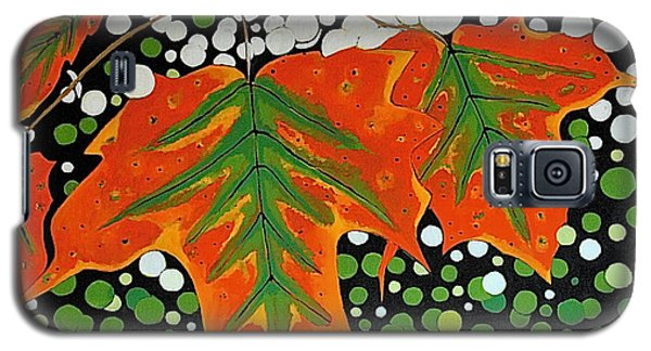 Galaxy S5 Case featuring the painting Autumns Kiss by Kathleen Sartoris