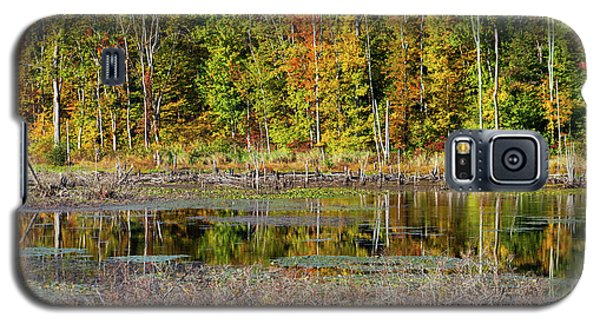 Galaxy S5 Case featuring the photograph Autumns Quiet Moment by Karol Livote