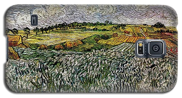 Galaxy S5 Case featuring the painting Landscape Auvers28 by Pemaro