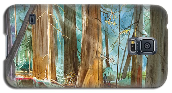 Galaxy S5 Case featuring the painting Avenue Of The Giants by John Norman Stewart