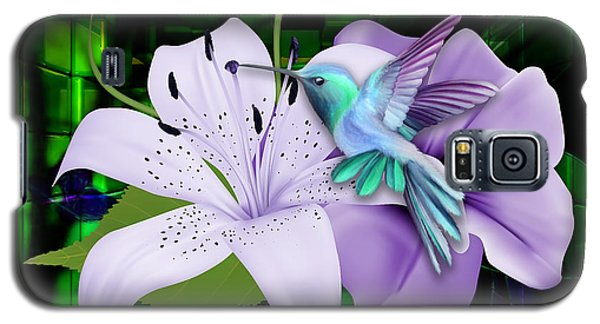 Galaxy S5 Case featuring the mixed media Aviation Hummingbird by Marvin Blaine