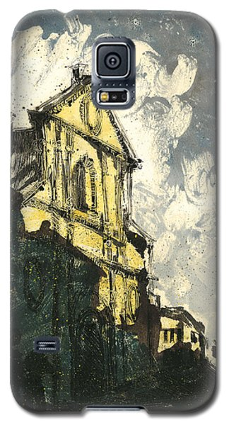 Galaxy S5 Case featuring the painting Avignon Provence Street View by Martin Stankewitz