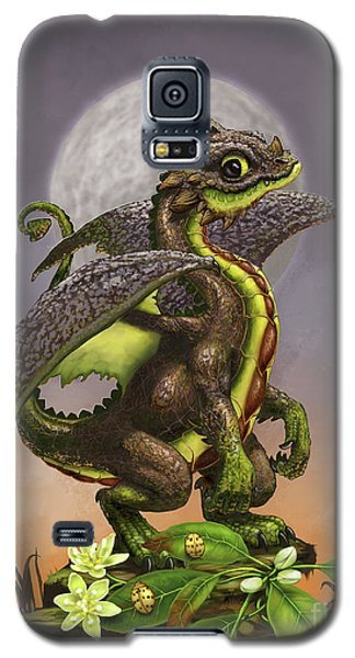 Galaxy S5 Case featuring the digital art Avocado Dragon by Stanley Morrison