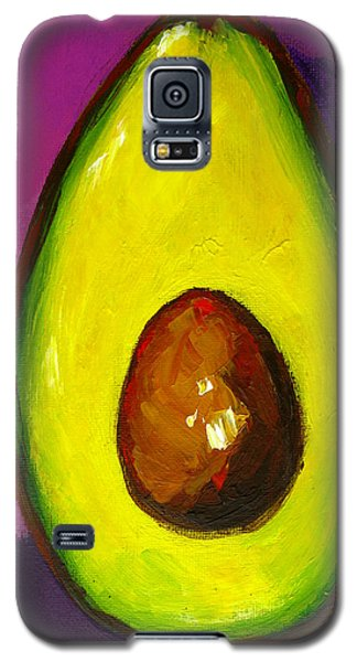 Avocado Modern Art, Kitchen Decor, Purple Background Galaxy S5 Case