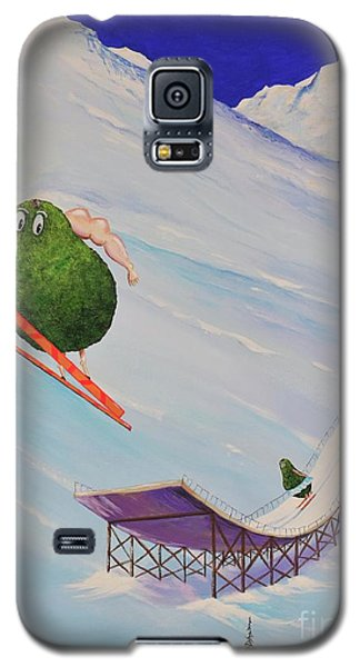 Galaxy S5 Case featuring the painting Avocados Can Fly by Mary Scott