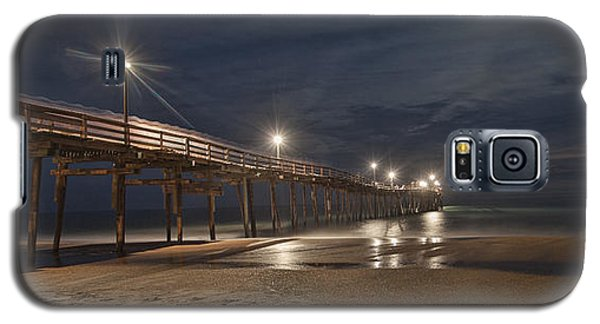 Avon Pier At Night Galaxy S5 Case by Laurinda Bowling