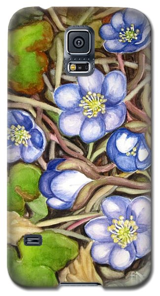 Galaxy S5 Case featuring the painting Awakening Of The Wild Anemone  by Inese Poga