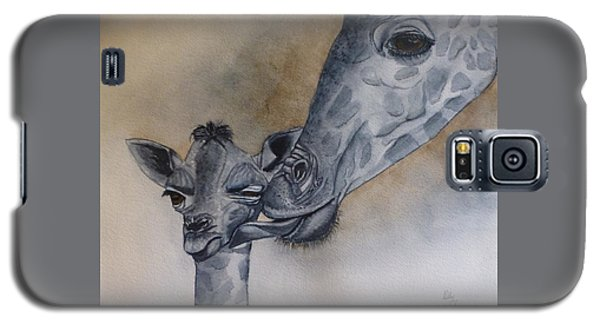 Baby And Mother Giraffe Galaxy S5 Case
