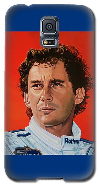 Ayrton Senna Portrait Painting Galaxy S5 Case by Paul Meijering