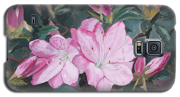 Galaxy S5 Case featuring the painting Azalea by Rachel Hames