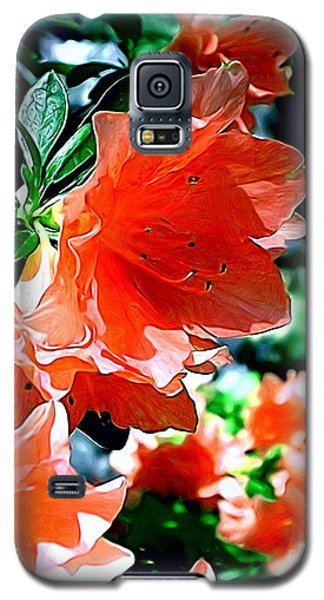 Galaxy S5 Case featuring the painting Azaleas In The Spring by Patricia Griffin Brett