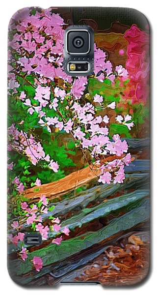 Galaxy S5 Case featuring the photograph Azaleas Over The Fence by Donna Bentley