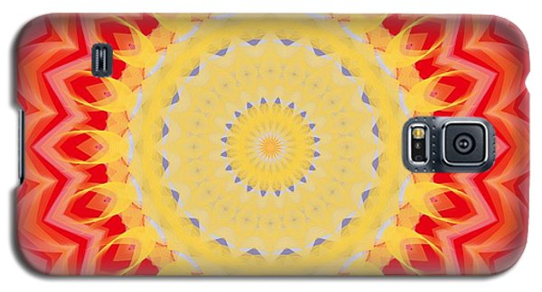 Galaxy S5 Case featuring the digital art Aztec Sunburst by Roxy Riou