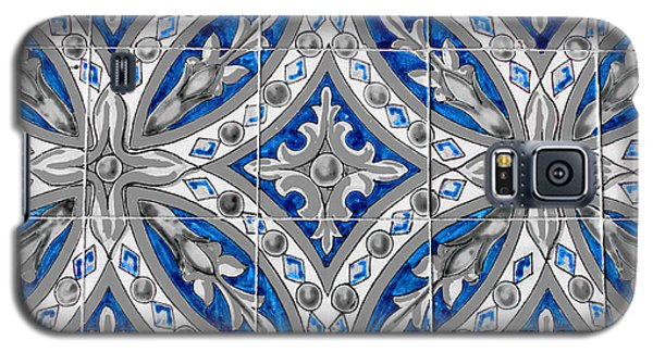 Azulejo - Blue Floral Decoration  Galaxy S5 Case