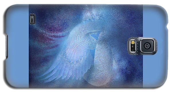Galaxy S5 Case featuring the painting Azure by Ragen Mendenhall