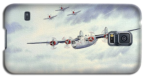 Galaxy S5 Case featuring the painting B-24 Liberator Aircraft Painting by Bill Holkham