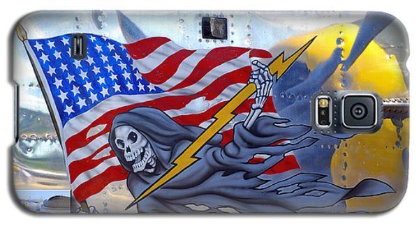 B-25 Pacific Prowler Nose Art Galaxy S5 Case by Larry Keahey
