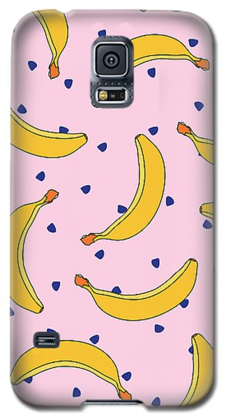 B-a-n-a-n-a-s Galaxy S5 Case by Elizabeth Tuck